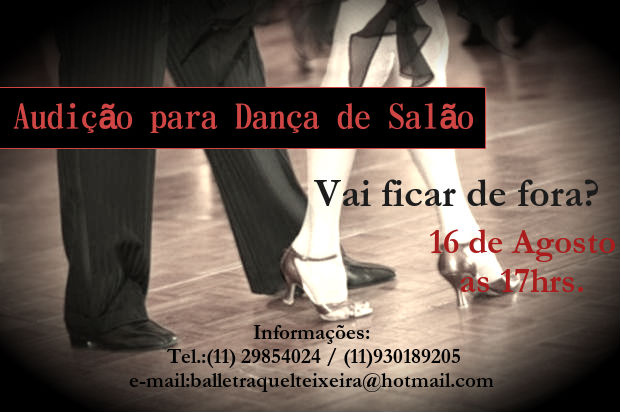 audição Estúdio de Dança Raquel Teixeira