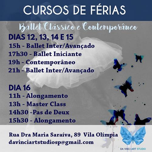 Da vinci art studio - curso de ferias - balletecontemporaneo