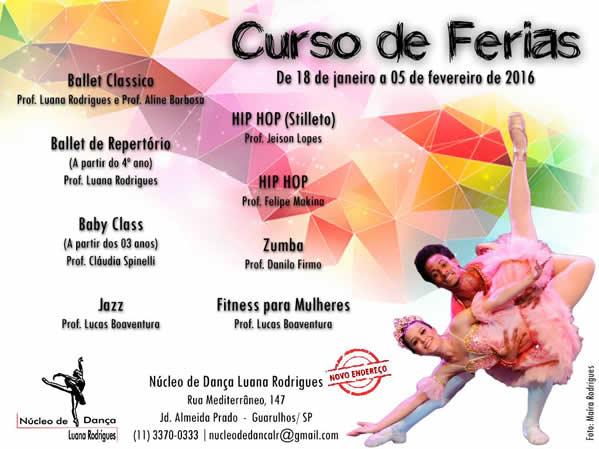 Núcleo de Dança Luana Rodrigues curso jan 2016