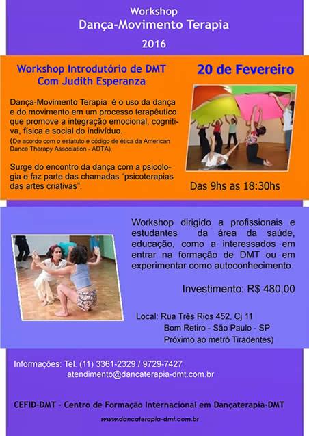 Dançaterapia WORKSHOP - Fev 2016