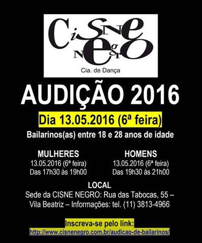 Cisne Negro audição 2016