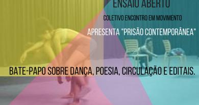 Grupo Mogiano premiado no ProAC realiza o 1ª Ensaio Aberto e Bate-Papo sobre Dança, Poesia, Circulação e Editais.