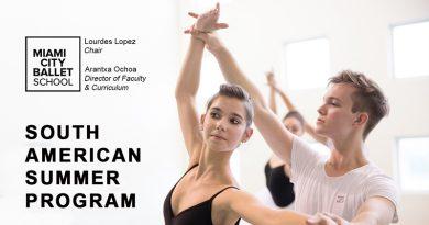 Master Class e Audição para o Miami City Ballet School