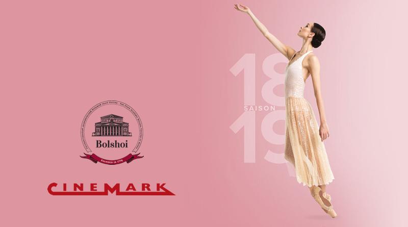 Rede Cinemark passa a exibir a temporada 2018/2019 do ballet Bolshoi no Cinema